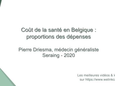 Coût de la santé en Belgique: proportions des dépenses