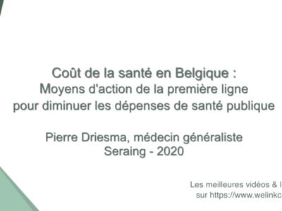 Coût de la santé en Belgique: rôle de la 1° ligne pour diminuer les dépenses