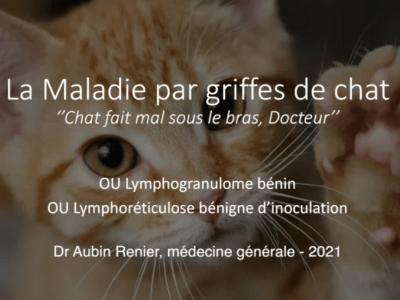 Maladie par griffes de chat