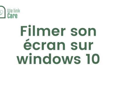 Filmer son écran sur Windows 10