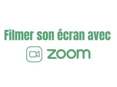 Filmer son écran avec Zoom