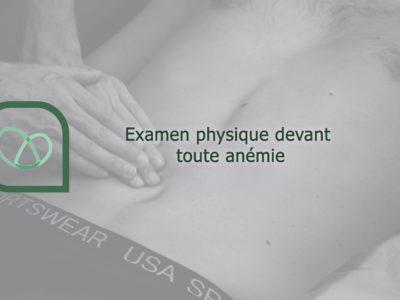 Examen physique devant toute anémie